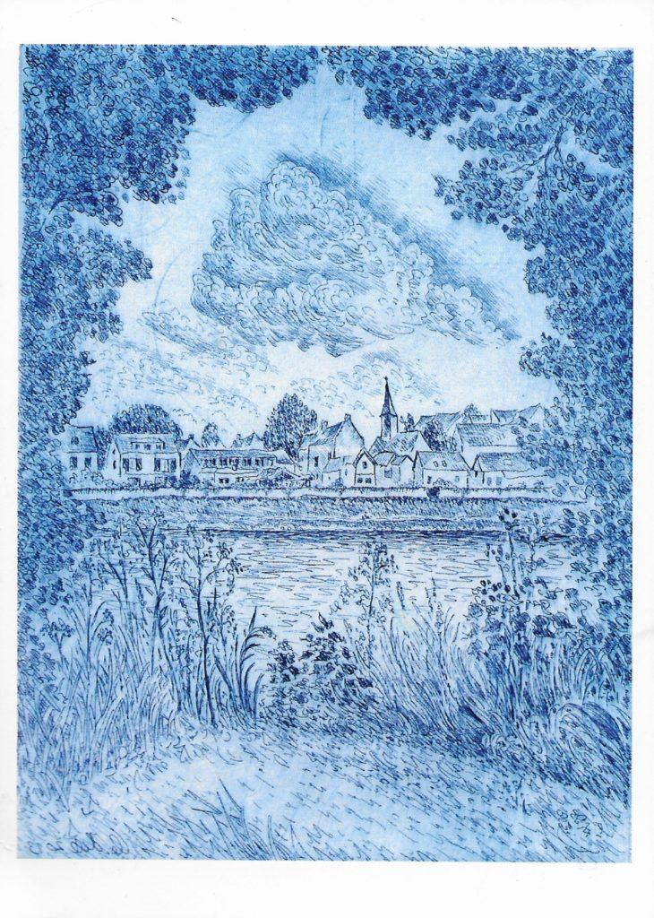Weiß, vom Zündorfer Ufer aus gesehen