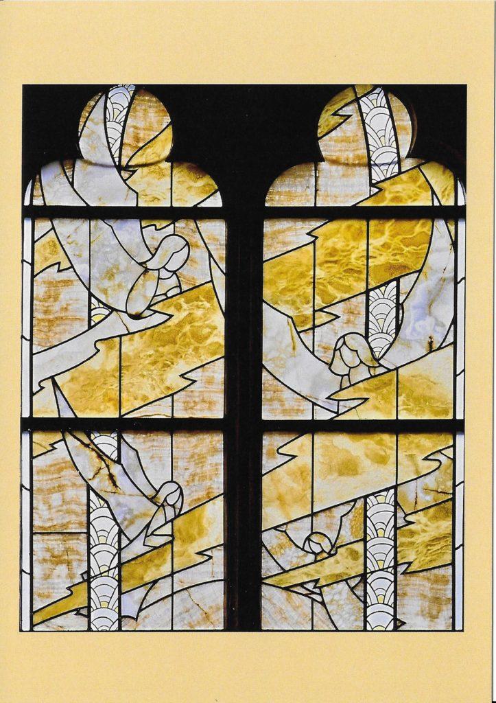 Fensterdetail St. Pantaleon, Engel.