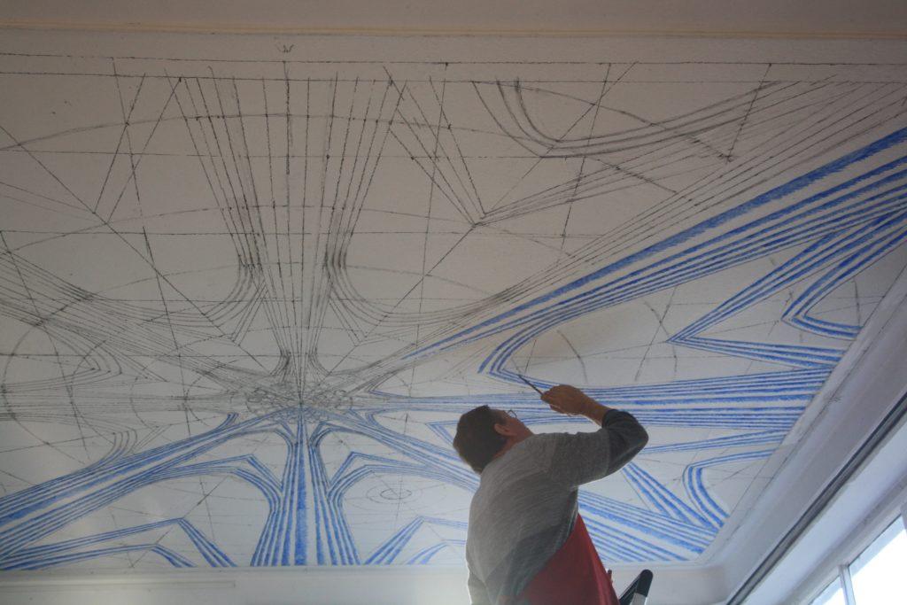Deckenmalerei im Kunsttraum 27